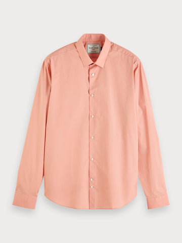 Stretch Cotton Shirt | Slim fit in Pink