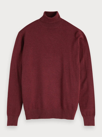 Melange Turtleneck in Red