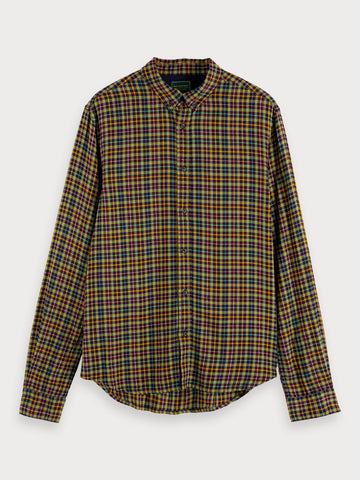 Lightweight Checked Shirt | Regular fit in Green