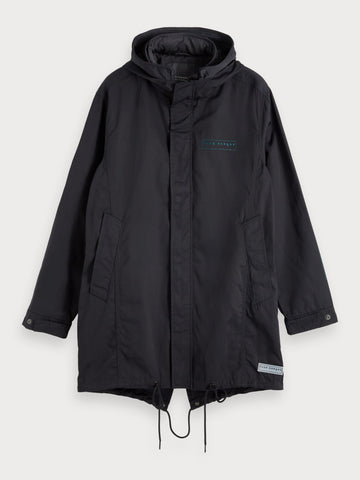 Double Hooded Parka in Black