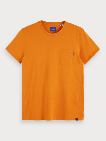 Basic Chest Pocket T-Shirt in Orange
