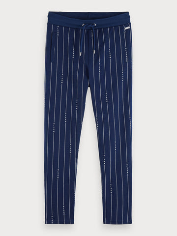 Striped Sweatpants in Blue