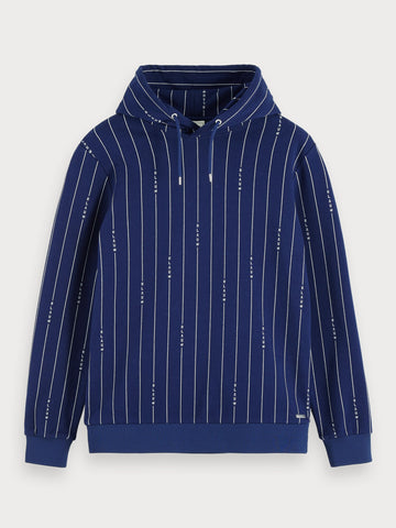 Striped Hoodie in Blue