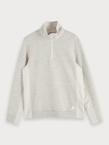 Half-Zip Sweatshirt in Grey