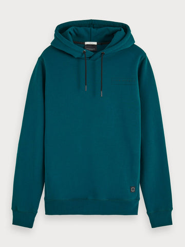 Clean Basic Hoodie in Blue
