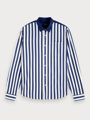 Striped Shirt | Regular fit in Blue