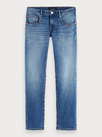 Tye - Blauw Tale | Slim carrot fit in Blue