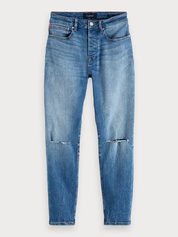 Dean - Blauw Tale Repair | Loose tapered fit in Blue