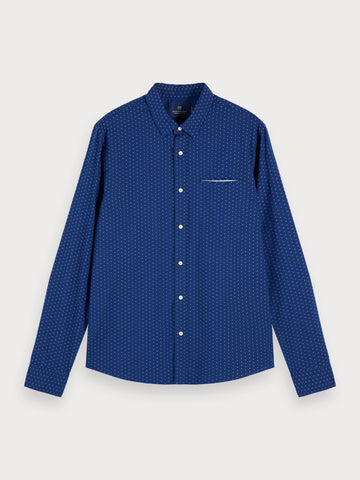 Jacquard Shirt | Regular fit in Blue