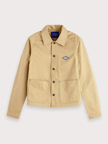 Twill Workwear Jacket in Beige