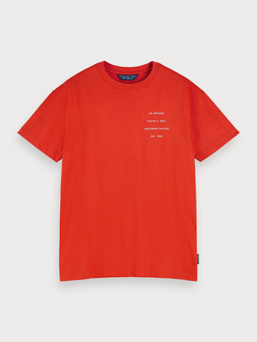 Crew Neck Logo T-Shirt in Red