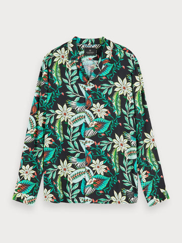 Floral Print Hawaii Shirt | Regular fit in Green
