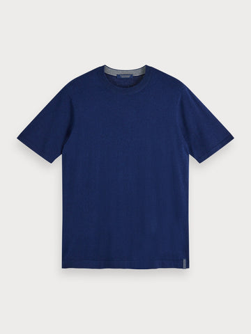 Cotton-Cashmere T-Shirt in Blue