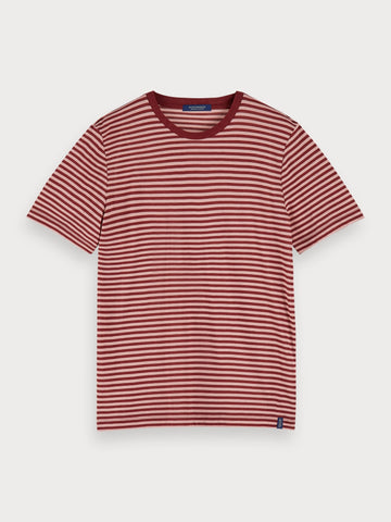 Cotton & Lyocell T-Shirt in Red