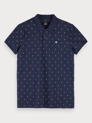 Mini Print Polo in Blue