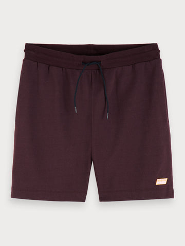 Drawstring Sweat Shorts in Bordeaubergine