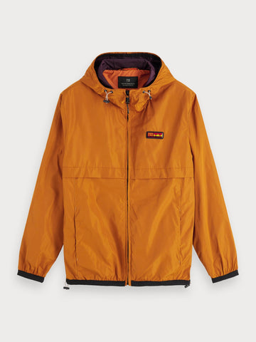 Double-Hood Jacket in Orange