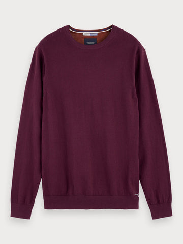Two-Tone Cotton-Cashmere Sweater in Brown