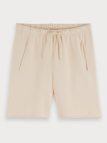 Ecru Sweat Shorts in Beige