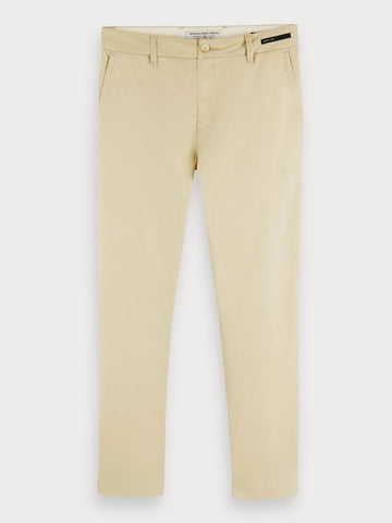 Fave - Twill Chinos | Regular tapered fit in Beige