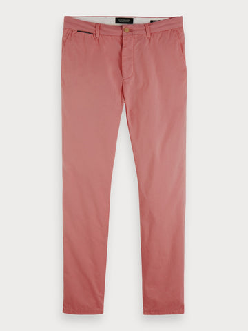 Mott - Pima Cotton Chinos | Super slim fit in Pink Smoke