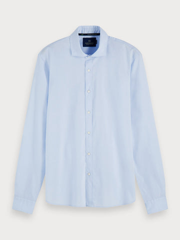 Stretch Cotton Shirt | Regular fit in Light Blue