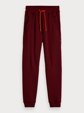 Logo Text Sweat Pants in Red