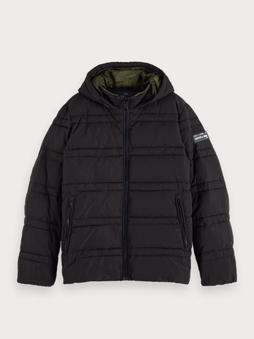 Quilted Puffer Jacket in Black
