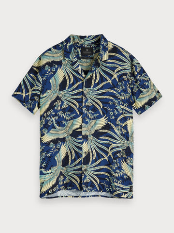 Printed Hawaii Shirt | Regular fit in Blue