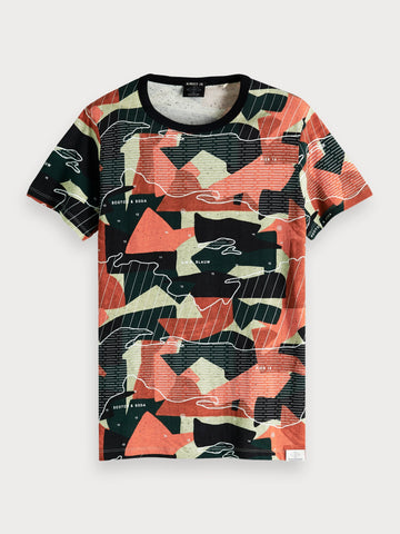 All-Over Printed T-Shirt in Multicolour