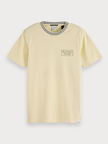 Logo Detail T-Shirt in Beige