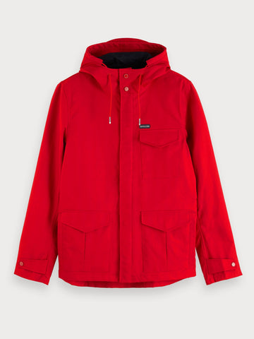 Hooded Jacket in Red