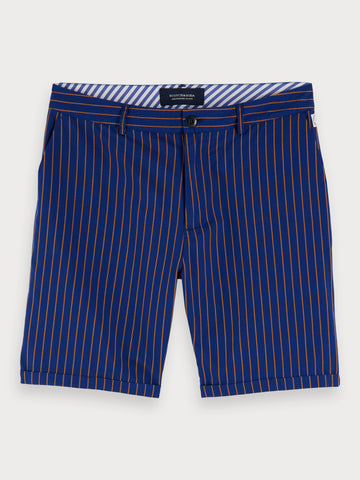 Striped Chino Shorts in Blue