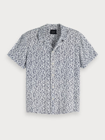Printed Hawaii Shirt in Grey