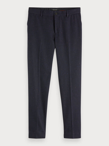 Stuart - Wool Blend Trousers | Regular slim fit in Black