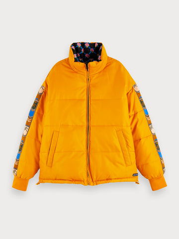 Reversible Puffer Jacket in Blue