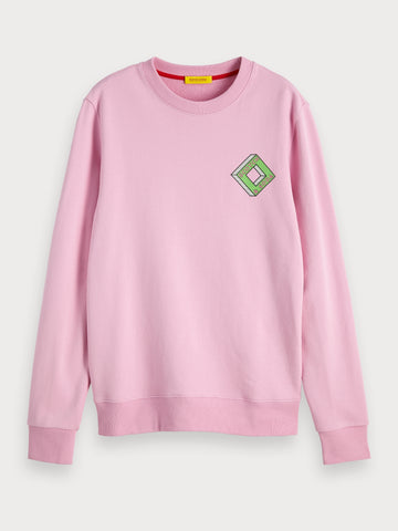 Logo Artwork Sweatshirt in Pink