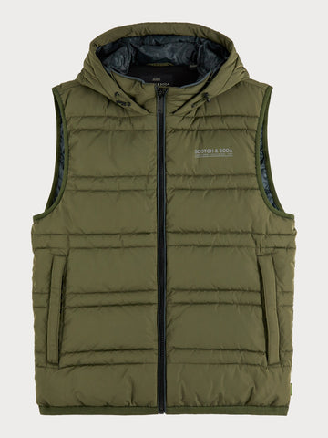 Hooded Vest in Green