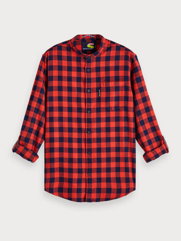 Flannel Gingham Shirt | Regular fit in Red