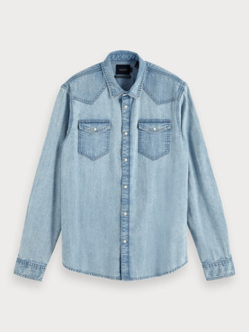 Classic Denim Shirt | Regular fit in Blue
