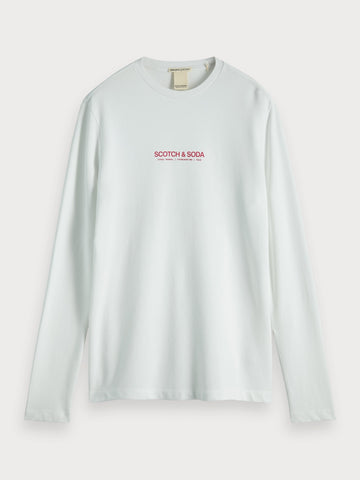 Organic Long Sleeve Cotton T-Shirt in White