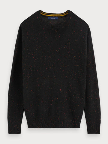 Nepped Sweater in Black