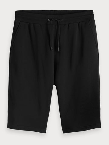 Tech Detailed Sweat Shorts in Black
