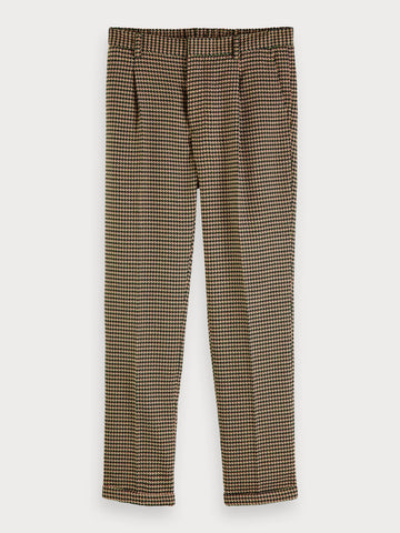Blake - Patterned Trousers | Regular slim fit in Green