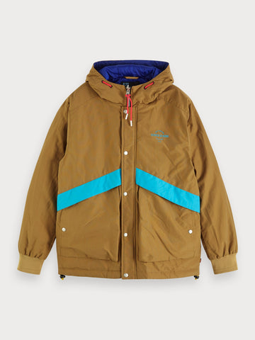 Reversible Padded Jacket in Tan