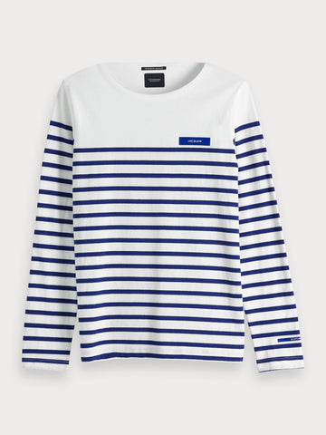 Striped Long-Sleeve in White
