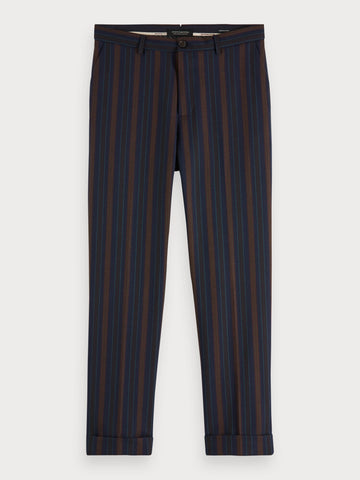 Patterned Trousers | Regular straight fit in Blue