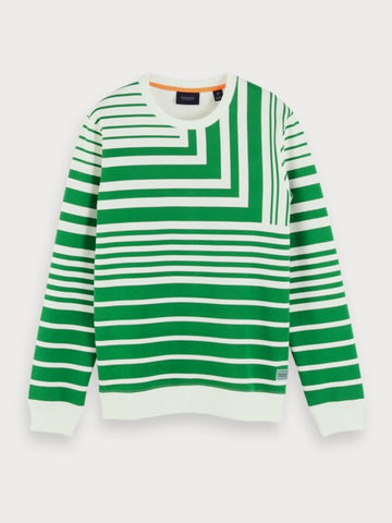 All-Over Printed Sweatshirt in Green