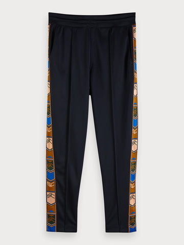 Tape Detail Track Pants in Blue