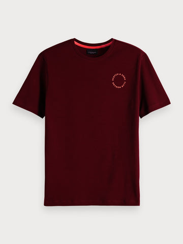 Logo Print T-Shirt in Red